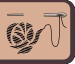 Stickerei mit Nadel